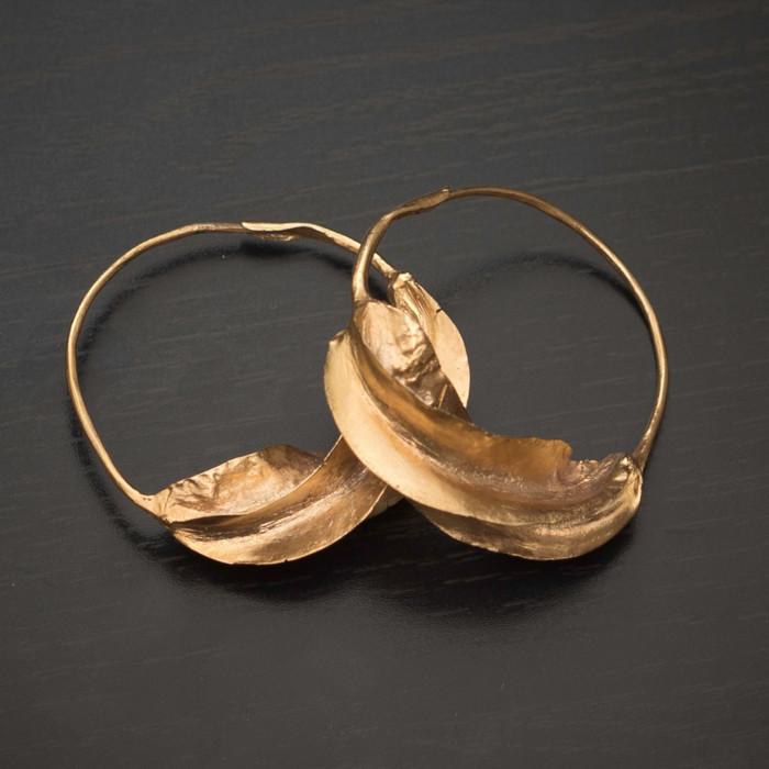 Fulani Earrings: Gold Plated Fulani Earrings : Fulaba