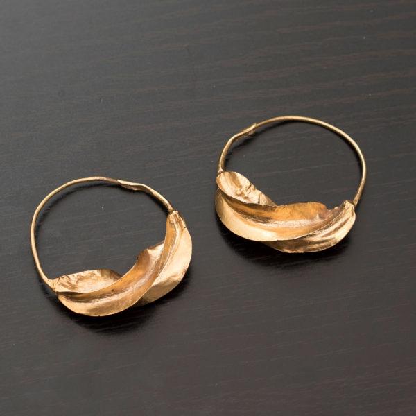 Fulaba gold dipped Fulani earrings
