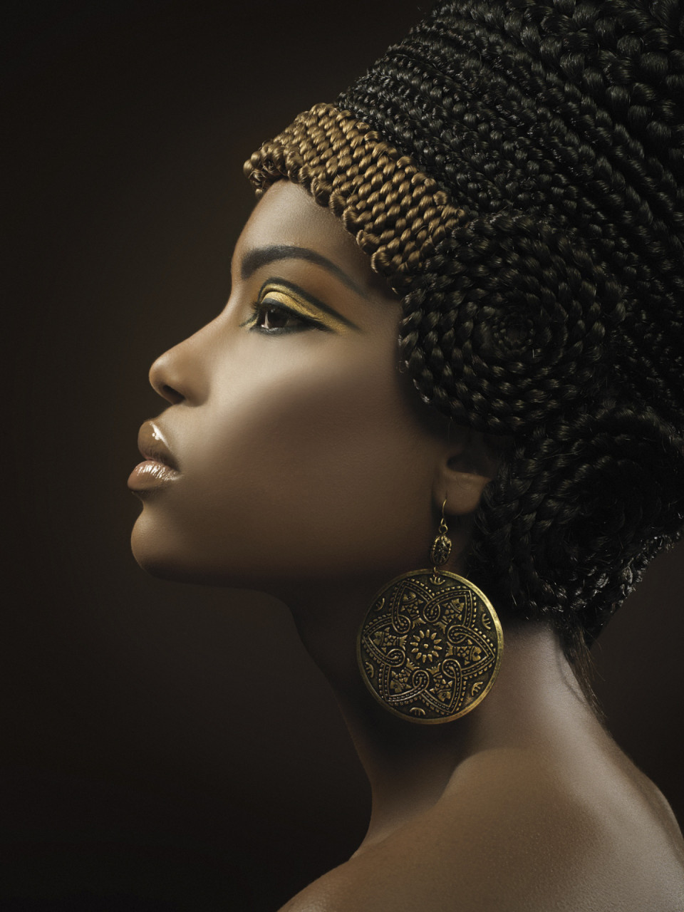 African Girl Headdress