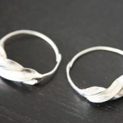Fulaba silver Fulani earrings - small 2