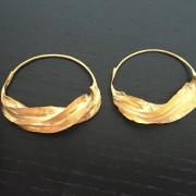 Fulaba gold plated Fulani earrings