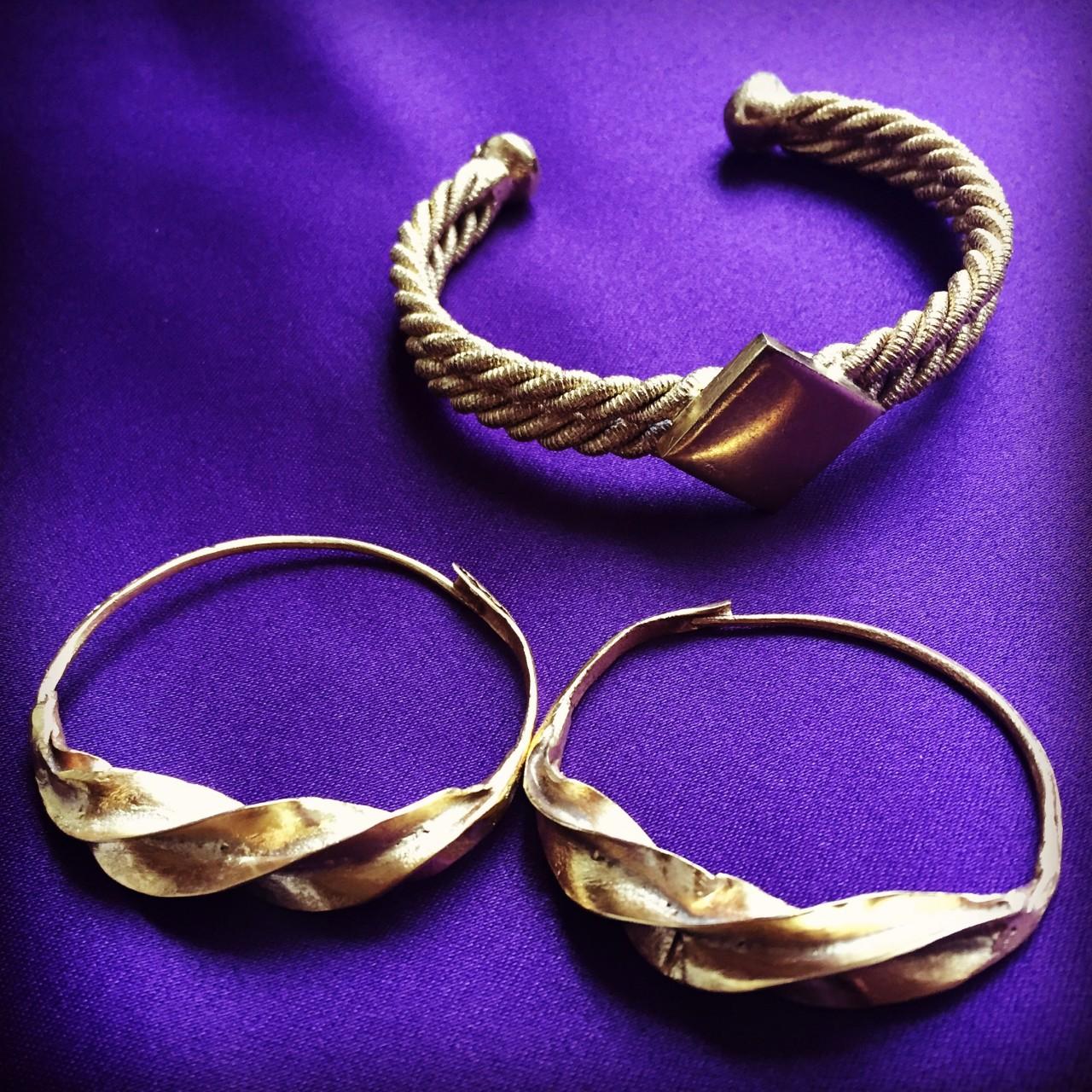 Fulaba Gold Dipped Fulani Jewelry pairing