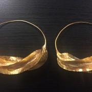 Fulaba gold dipped Fulani earrings-large version