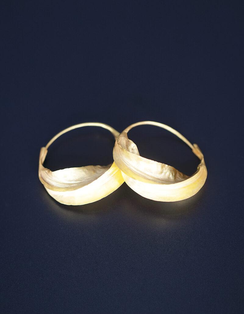 Fulaba gold plated Fulani earrings-feature
