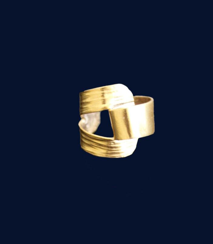 Fulaba gold dipped Tukulor earring cuff